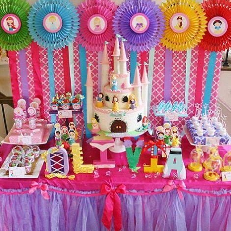 Ideas para un cumplea os de princesas disney cumple - Decoracion fiesta princesas disney ...
