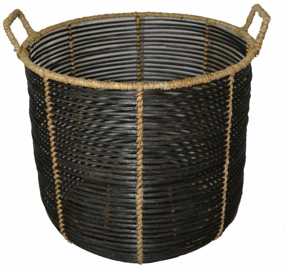 Black Storage Basket Attractive Finish 2 Handles for Easy Mobility Home Decor #Basket #StorageBasket #Black #BlackStorageBasket #Attractive ...  sc 1 st  Pinterest & Black Storage Basket Attractive Finish 2 Handles for Easy Mobility ...