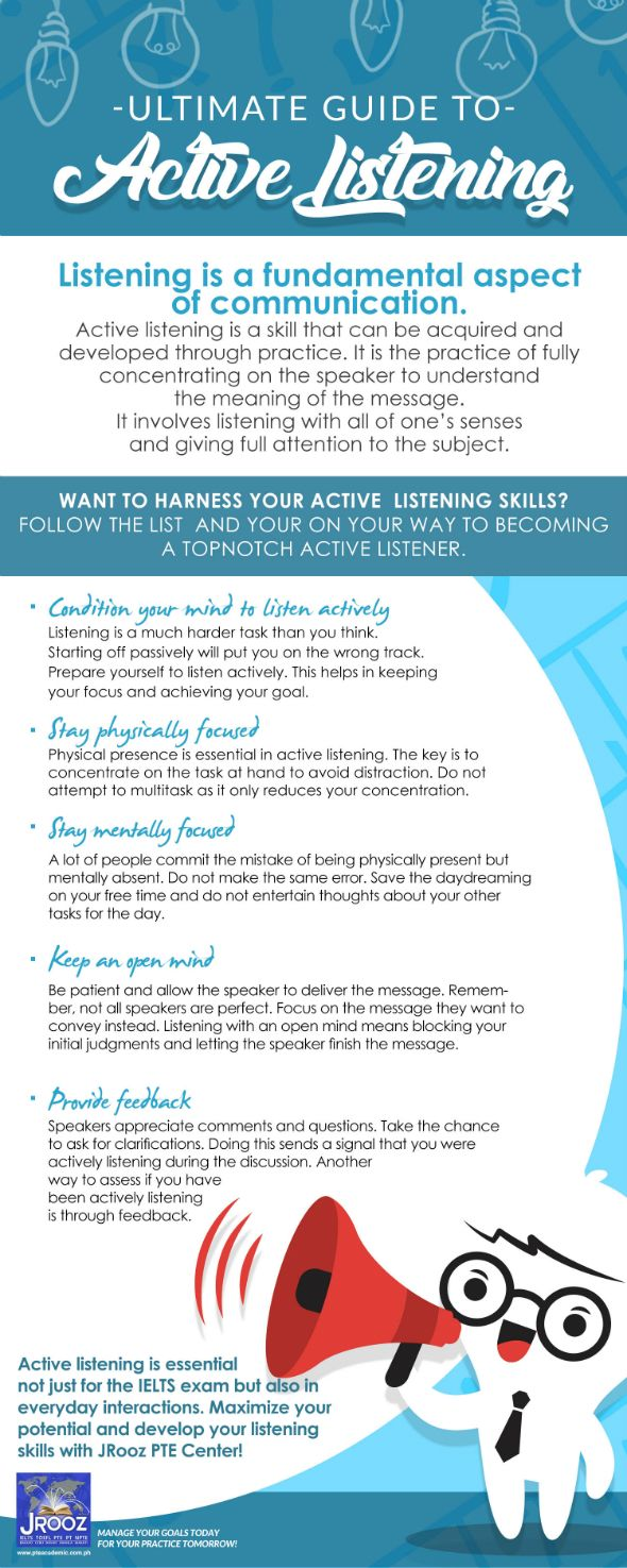 Active Listening is the practice of fully concentrating on the