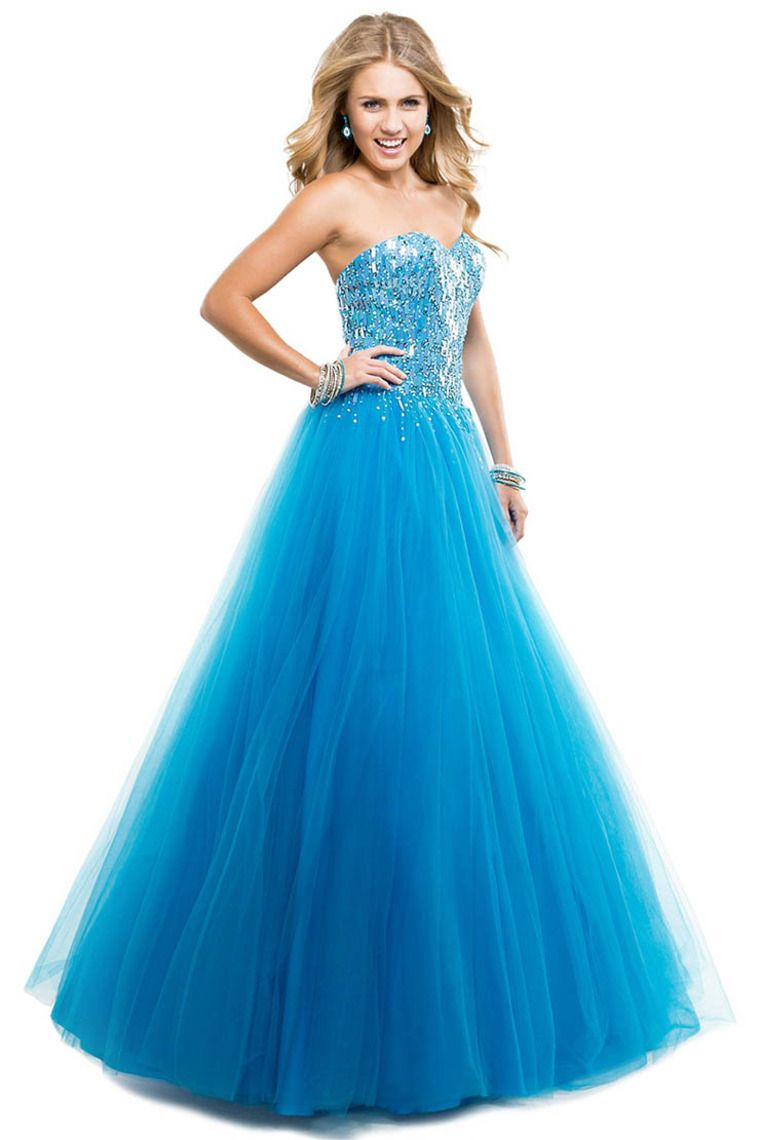 2014 Tulle Ball Gown With Sequince Shimmer Prom Dresses Corset Ice ...