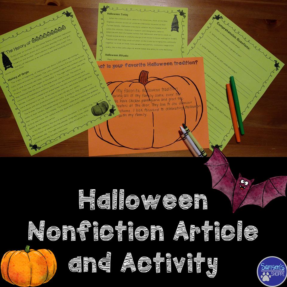 Halloween Nonfiction Article and Activity | Halloween, Origin of ...