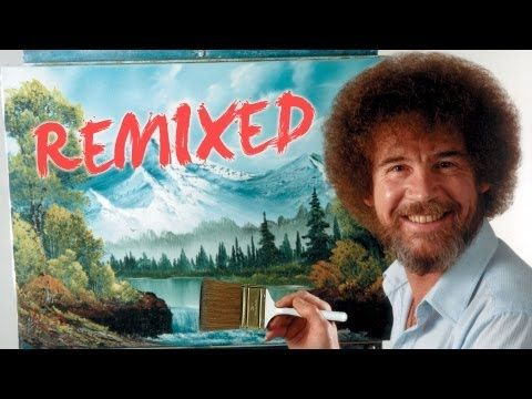 """""""The Joy of Painting"""" featuring the late Bob Ross will surely make your day! :)"""
