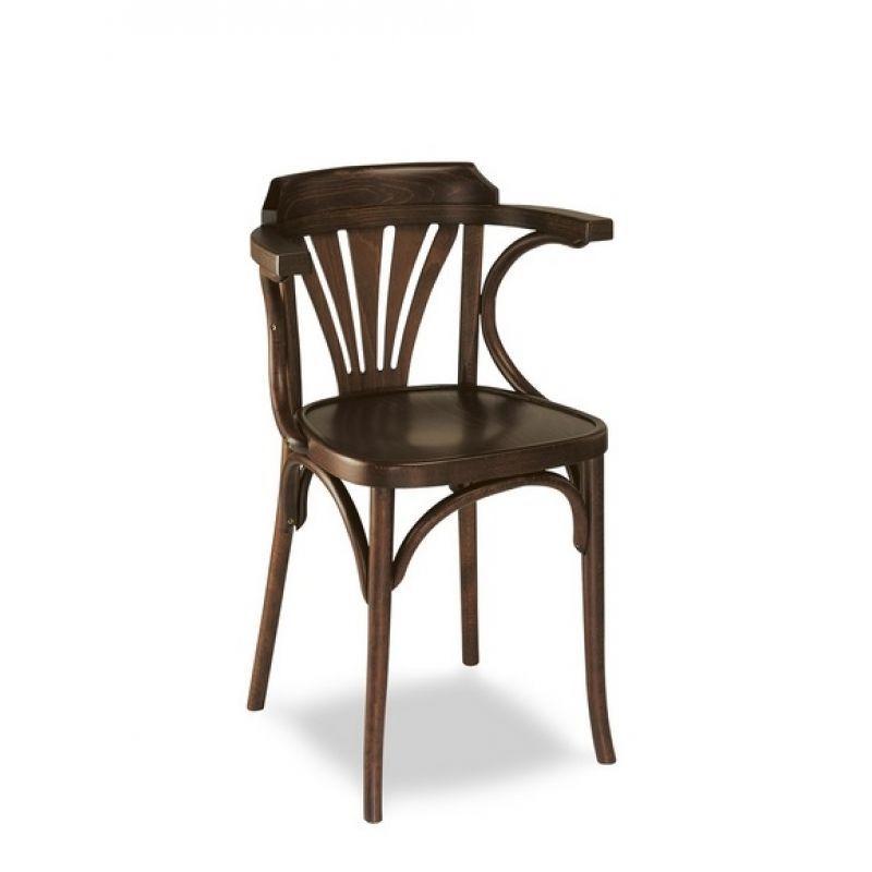 Bugholzstuhl im Landhausstil, Stuhl, Hausbar, Minibar, Massivholz - küche vintage look
