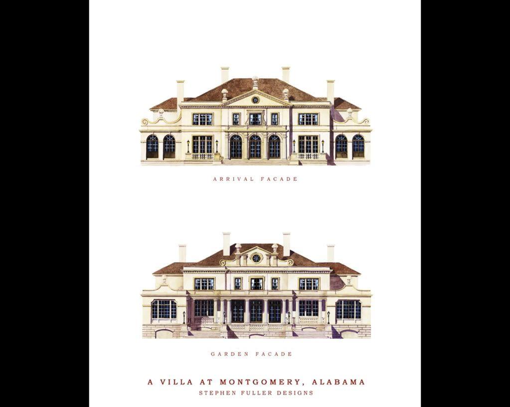 Stephen Fuller Designs Anglo Palladian Villa Drawings Villa Design Blueprints