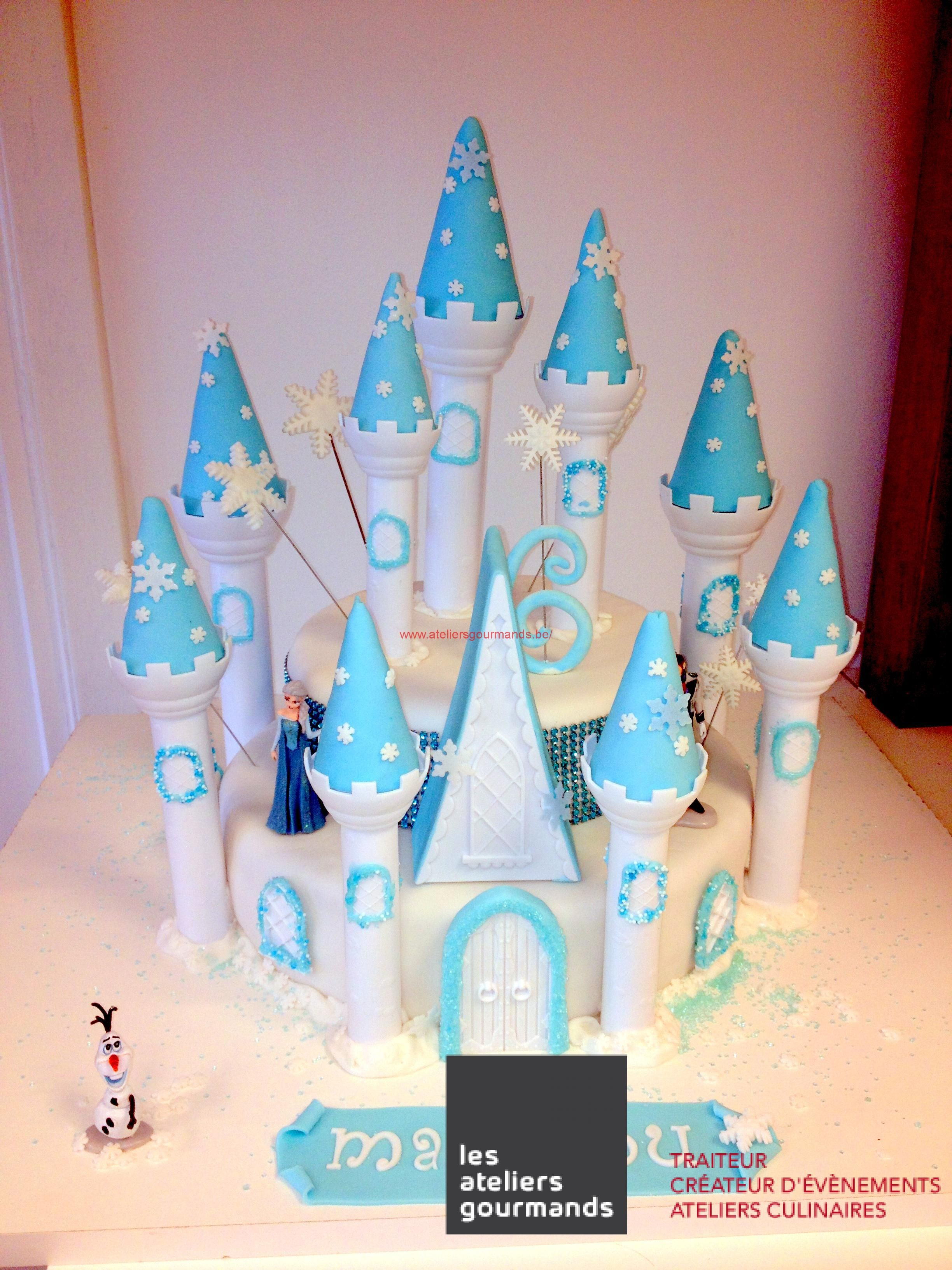 Gateau chateau reine des neiges cake design pinterest - Chateau elsa reine des neiges ...