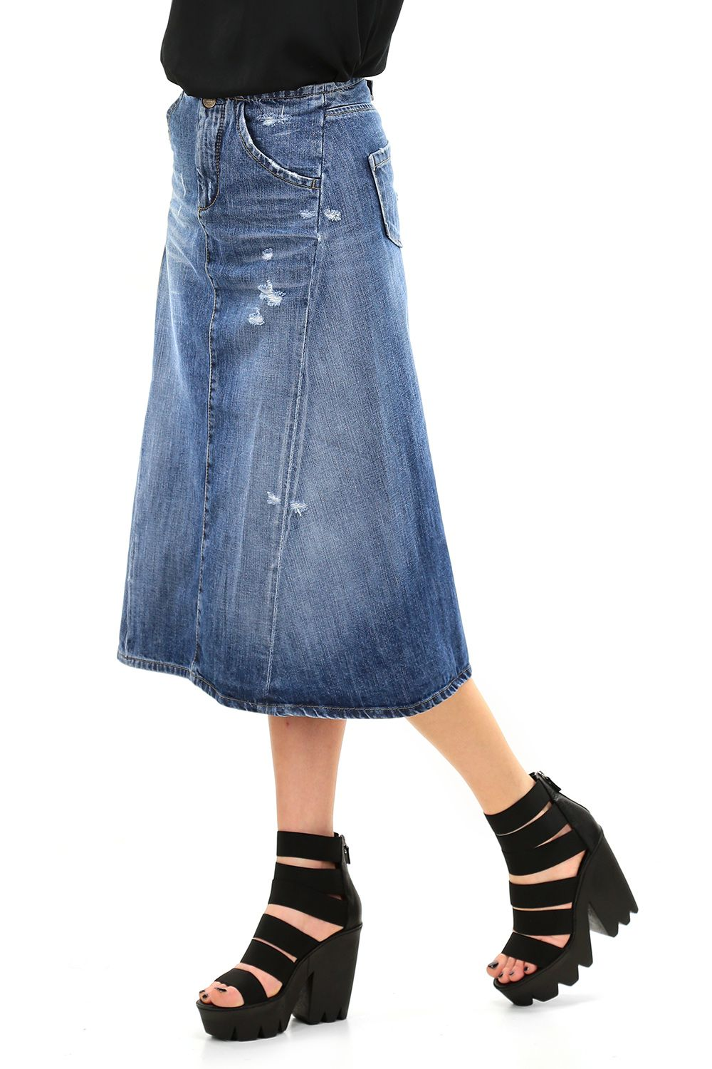 negozio online 0321d 079c1 Gonna Blue Liu.jo | Liu Jo Clothing SS16 | Denim skirt, Blue ...