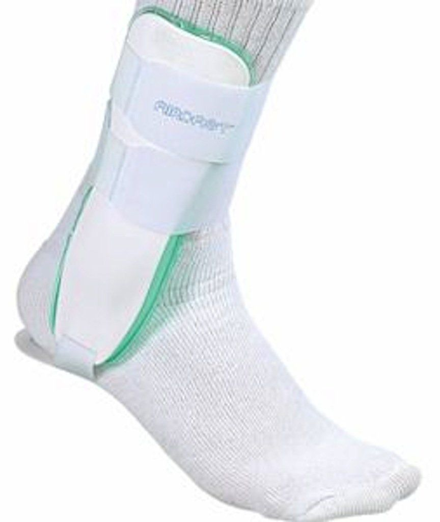 Mueller Aircast Ankle Brace Cast Like Support Air Chambers For Ankle Left Foot White Osfm To View Further For This Item Ankle Braces Braces Ankle