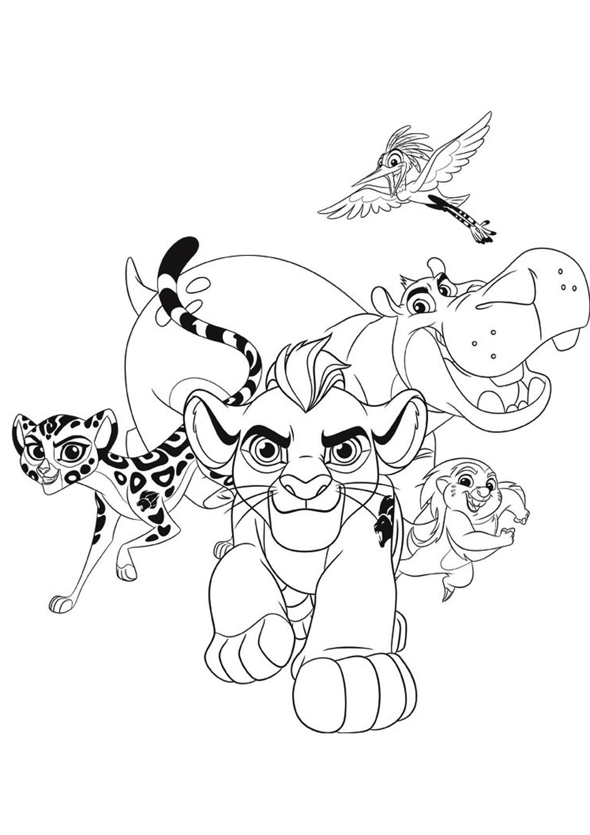 Lion Guard Beshte Coloring Pages Lion Guard Birthday
