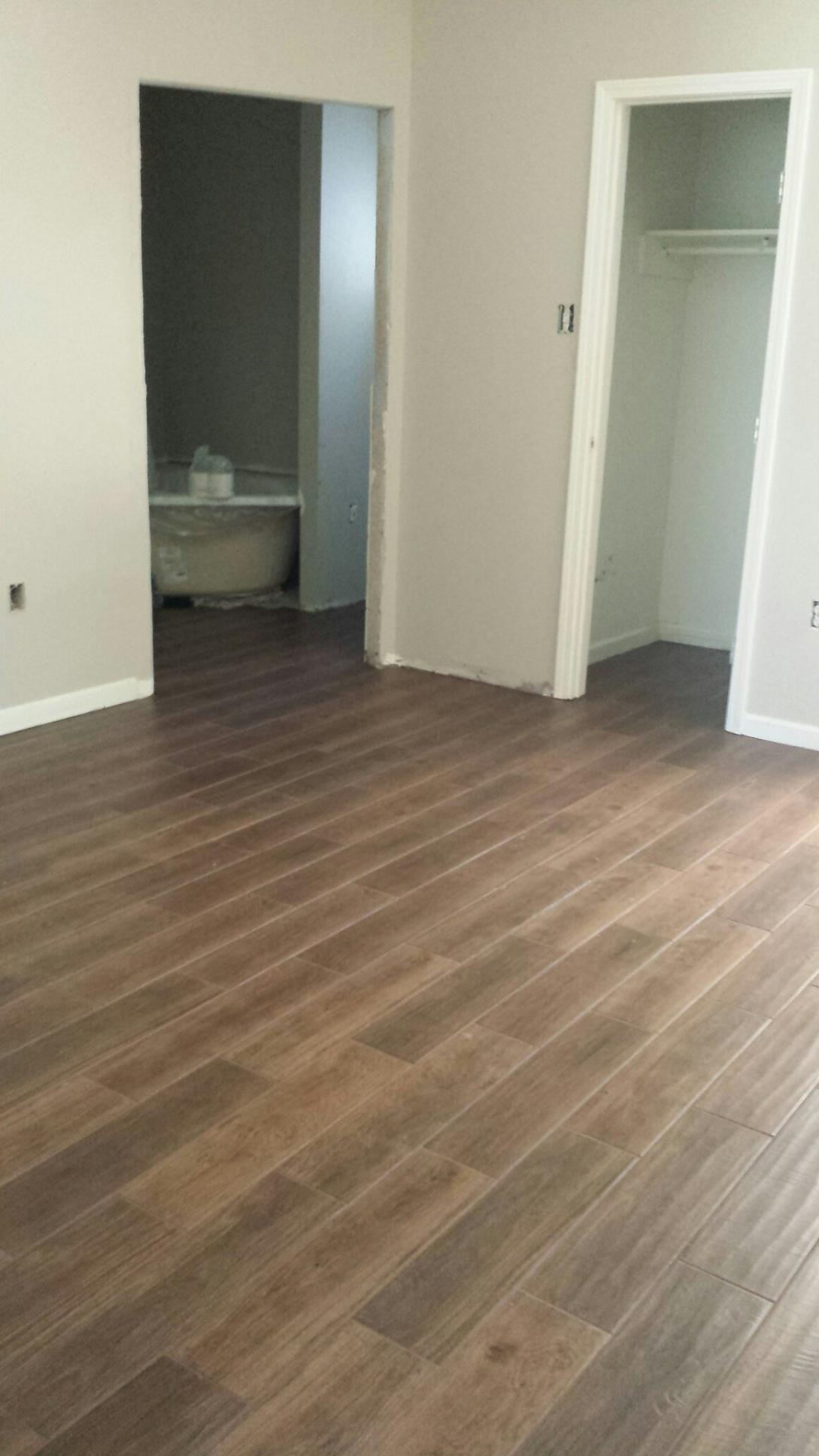 Wip Hardwood Styled Porcelain Tile Flooring Throughout Whole House