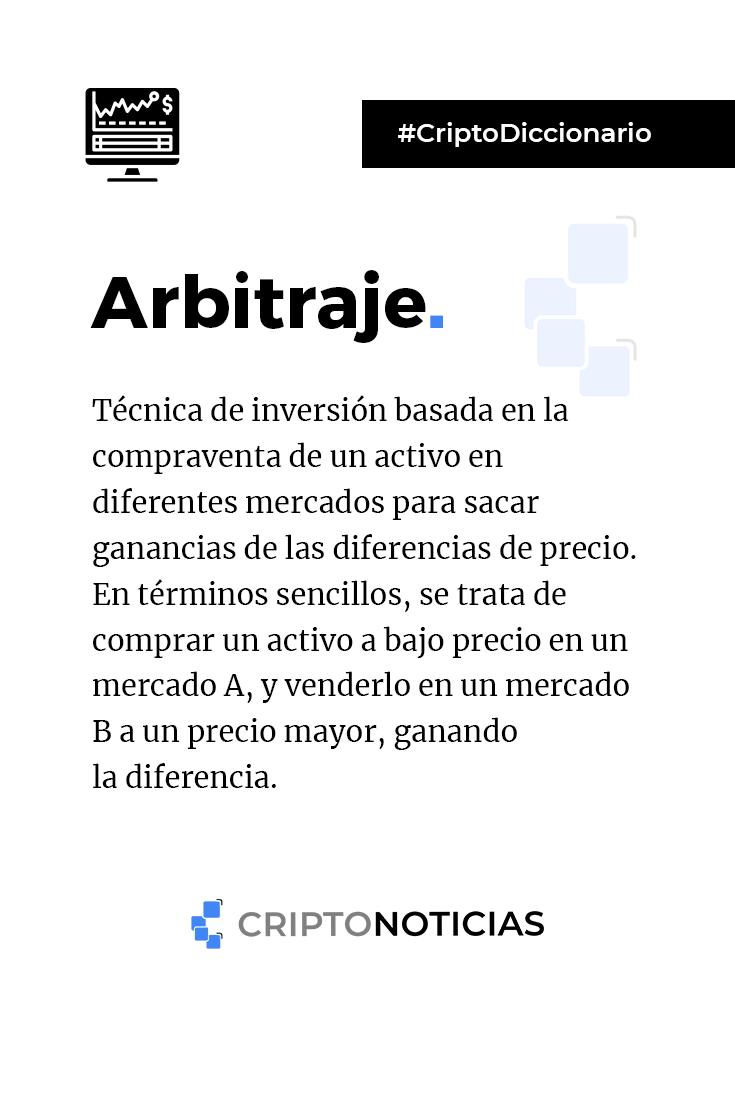 Arbitraje Criptodiccionario Consejos De Finanzas Administracion De Negocios Lenguaje De Programacion