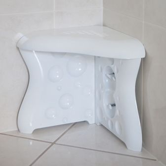 Shavezy Stool In The Corner Of Your Shower Makes It So Easy To
