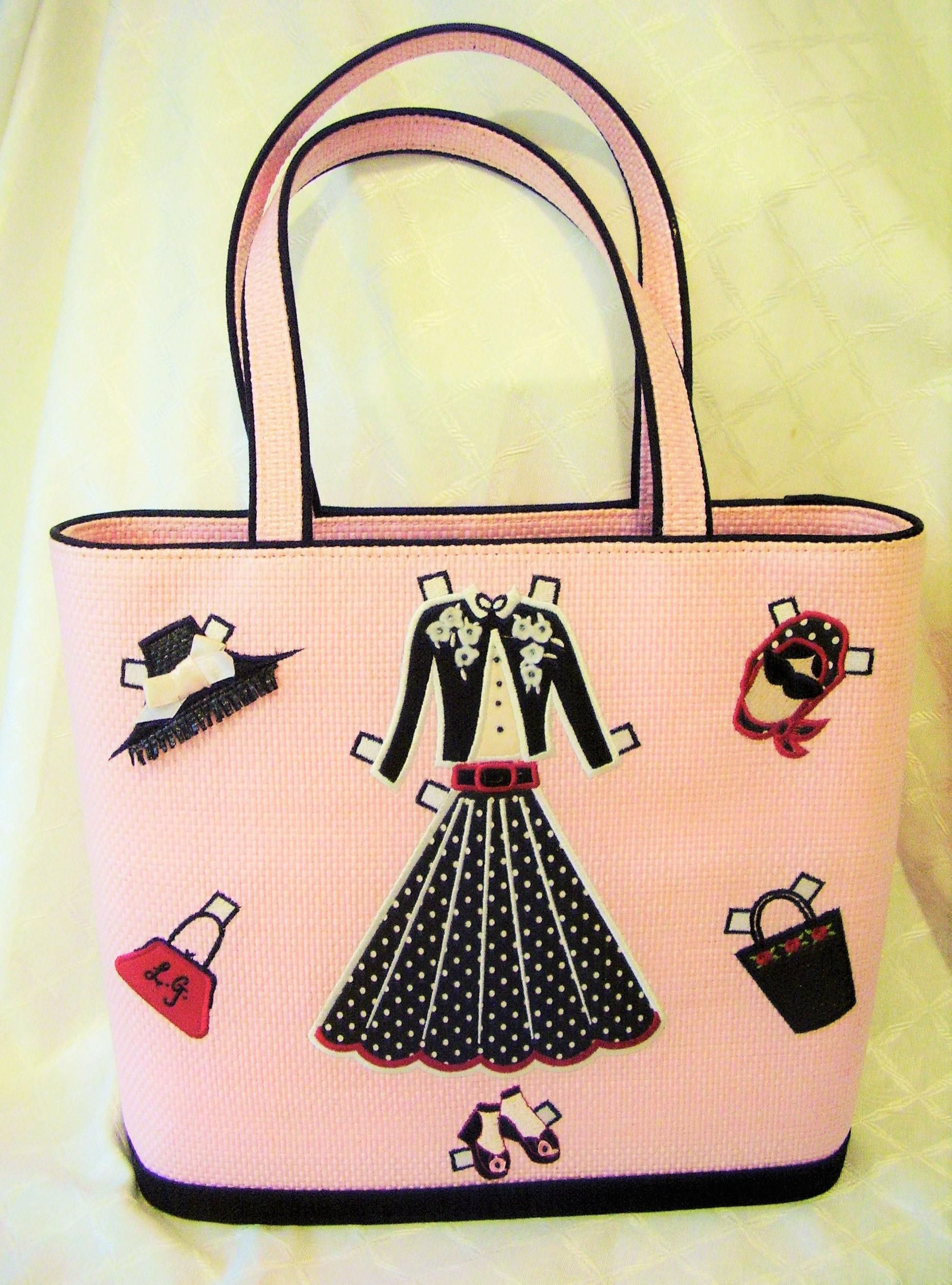 ff96c2a27a5a Lulu guinness pink paper doll tote handbag with dust bag cuties jpg  1858x2507 Vintage lulu guinness