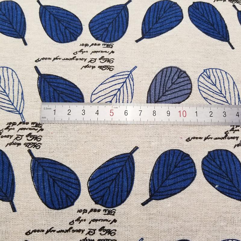 Metre Imprime Feuille Bleue Coton Et Lin Tissu Pour Bricolage Couture Tapisserie D Ameublement Canape Rideau Nappe Coton Tapisserie Nappe Idee Bricolage Facile