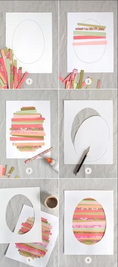 ganz einfache osterkarten zum basteln mit den kindern ostern pinterest ostern ostern. Black Bedroom Furniture Sets. Home Design Ideas