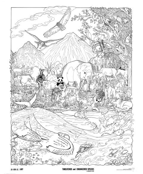 Library Slideshow by doodleartposters Photobucket coloring - best of free coloring pages of endangered animals