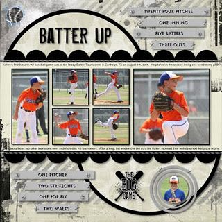 Can Use This For Little League Pictures With Ethan This Year Baseball Scrapbook Scrapbooking Layouts Scrapbook