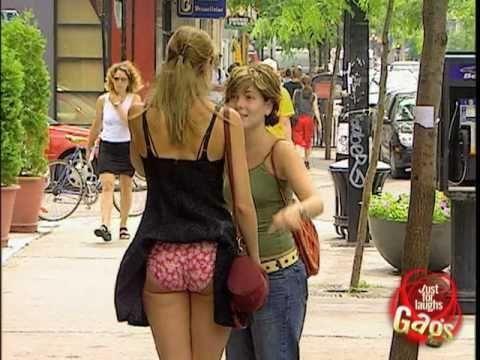 Lady Your Underwear Is Showing Prank - #funny #prank #JustForLaughs