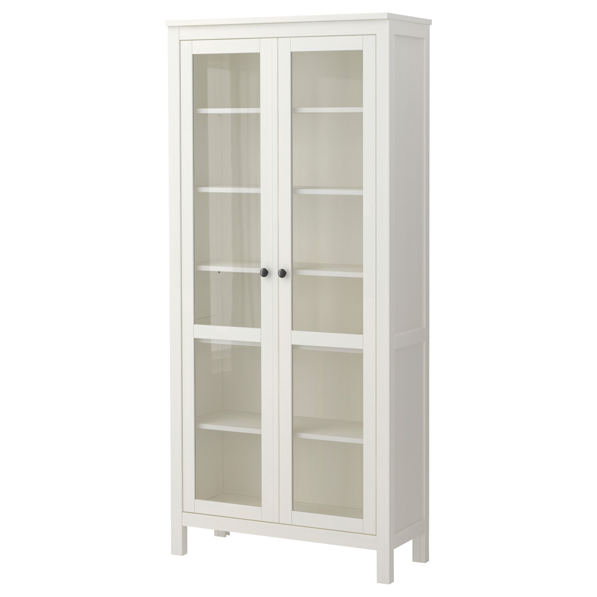in stock combine w ? HEMNES Glass door cabinet white IKEA The Land of Oak Pinterest
