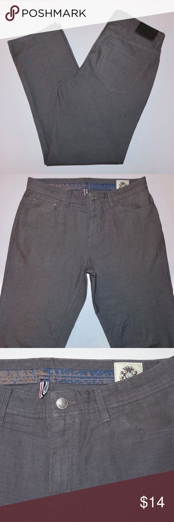 English Laundry Mens Pants 34x32 Walker Grey English Laundry Mens