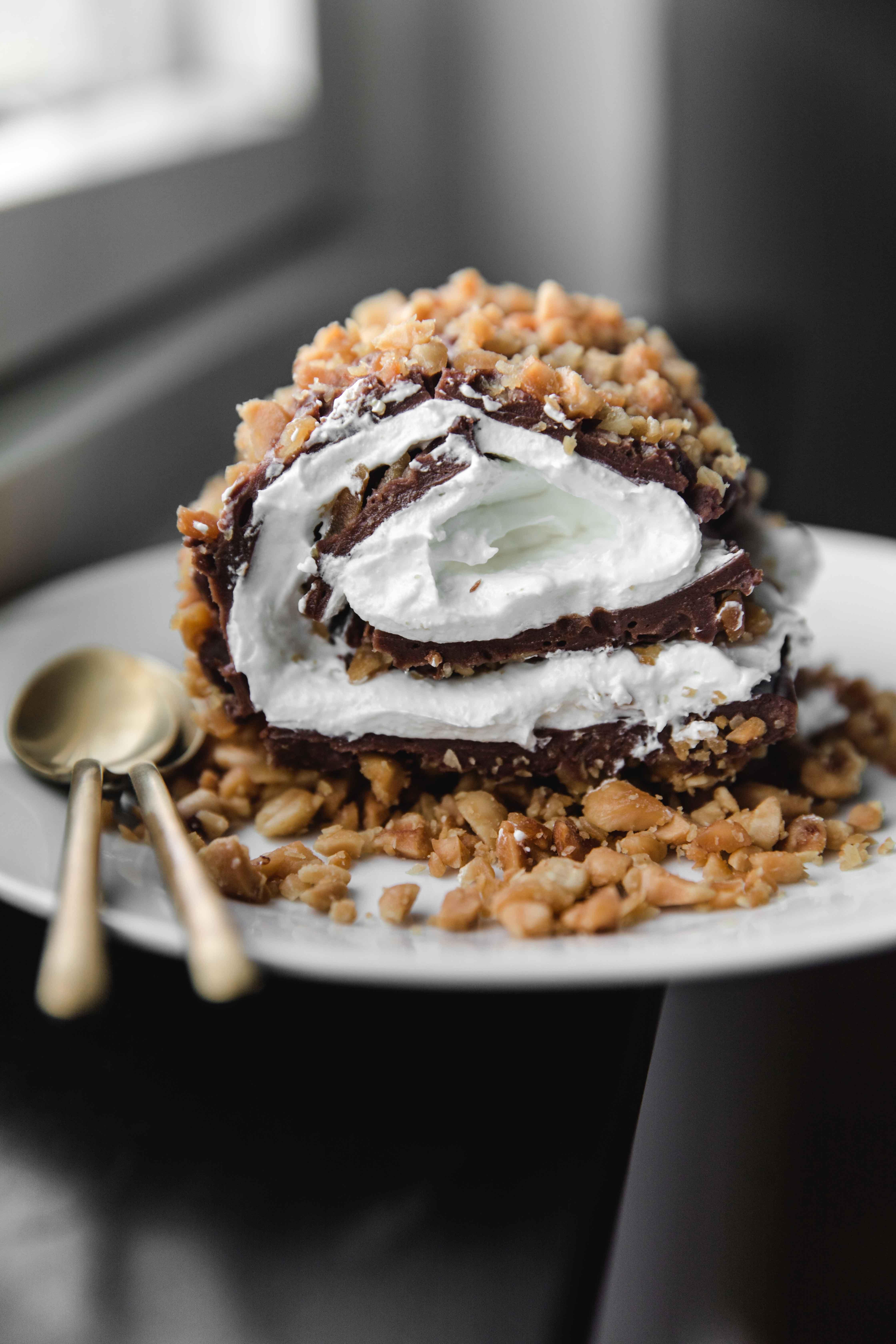 Tik Tok Dessert With Pudding And Cream Mat Smaskigt Bakning