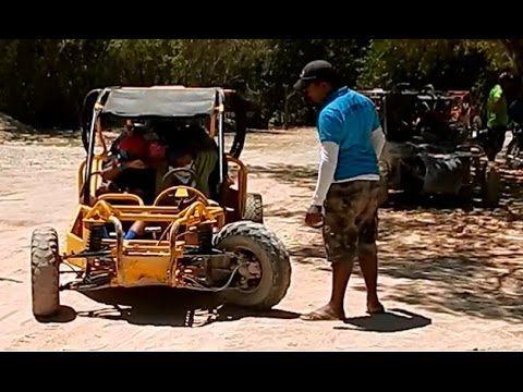 4x4 BUGGY FAIL - Buggy breaks Tie Rod on Macao Beach in Punta Cana