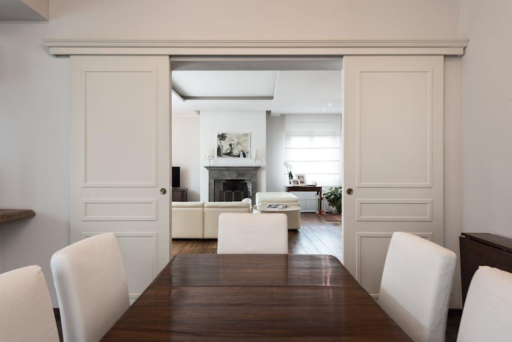 Porta scorrevole esterna: sala da pranzo in stile di melissa ...