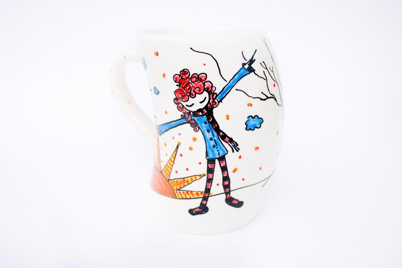 Coffee Mug - painted coffee mug - Despite Gravitation. $32.00, via Etsy.
