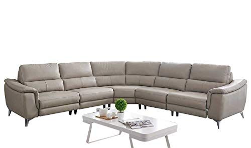 951 Modern Sectional Sofa with Electric Recliner in Light ...