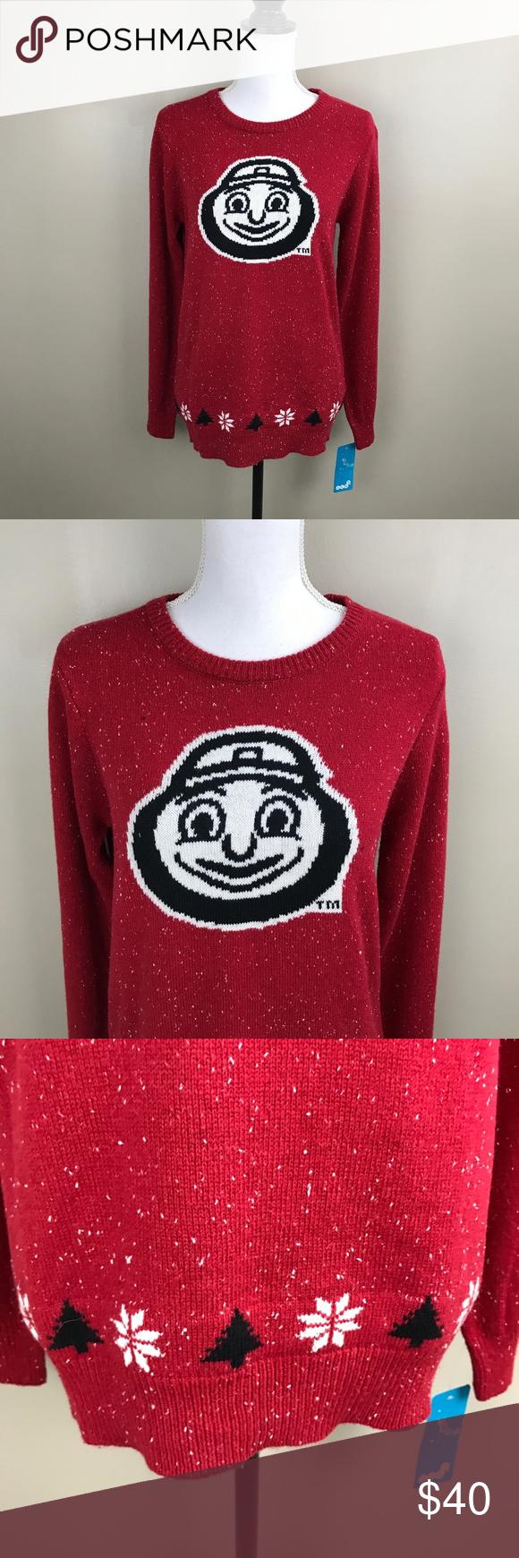 Ohio State Ugly Christmas Sweater.Pin On My Posh Closet