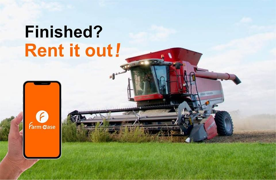Farmease is a farm equipment marketplace for rental and