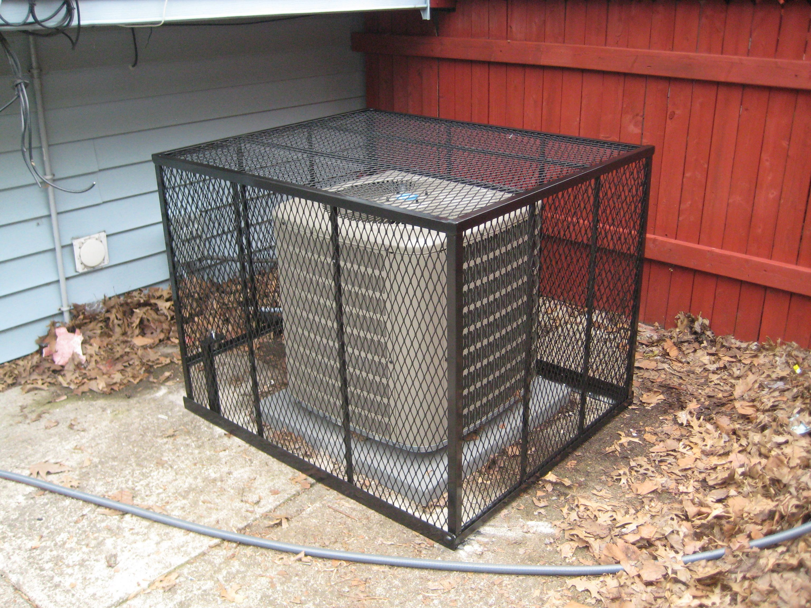 Free standing AC Cage Trash can, Free standing, Cage