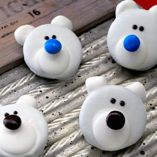 You'll be the talk of the cookie exchange with this easy-to-make polar bear cookies recipe!