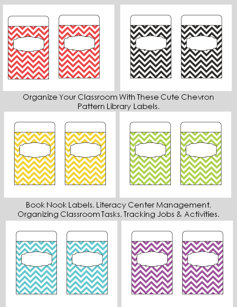 Classroom Design Patterns ~ Organize your classroom with these cute chevron pattern
