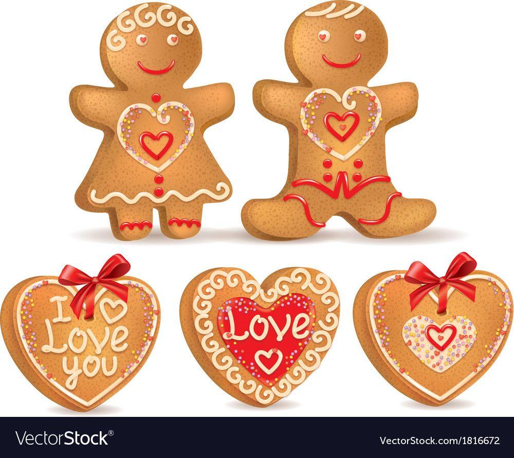 Gingerbread love Royalty Free Vector Image VectorStock