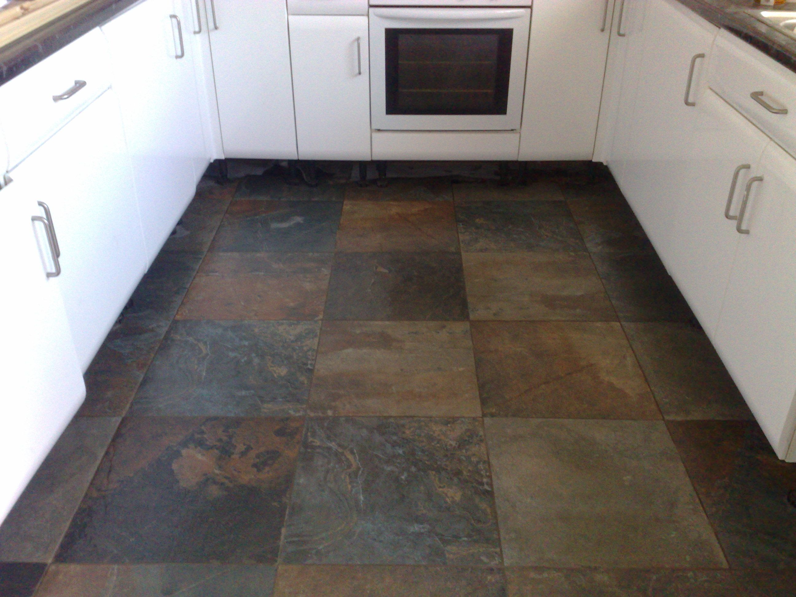 Natural Slate Tiles Garage Floor