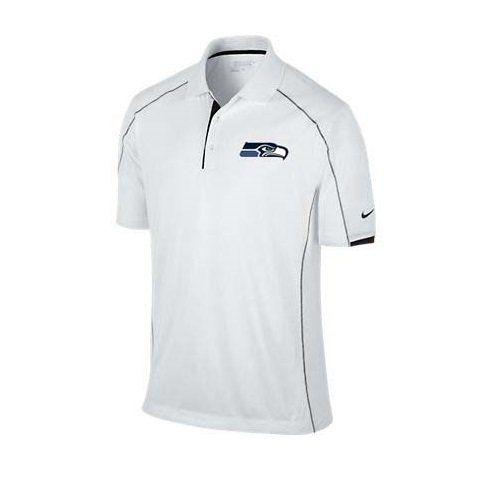 NEW Nike Tech Core Color Block Polo Seattle Seahawks White Large Golf Shirt $64.95