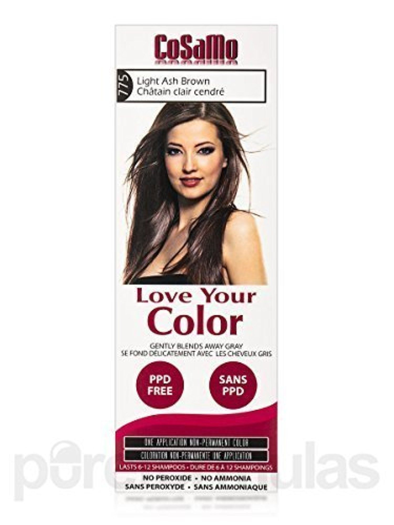 Cosamo Love Your Color Non Permanent Hair Color 775 Light Ash