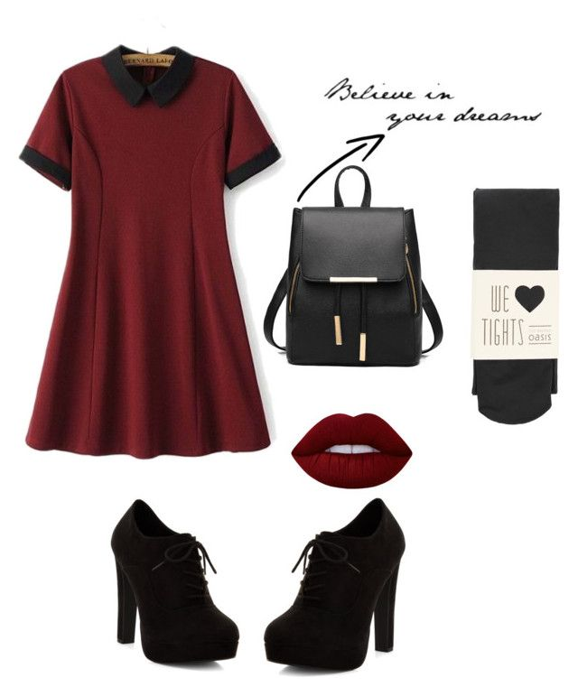 """Untitled #3"" by lynnsaiid ❤ liked on Polyvore featuring Chicsense, Oasis, New Look and Lime Crime"