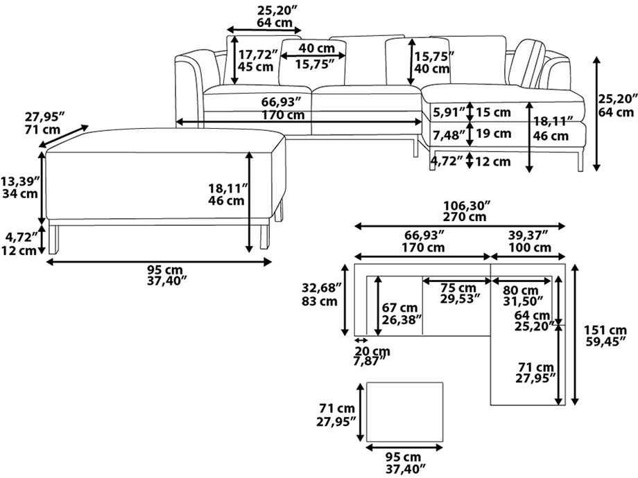 Sofa Sizes Pictures To Pin On Pinterest  PinsDaddy