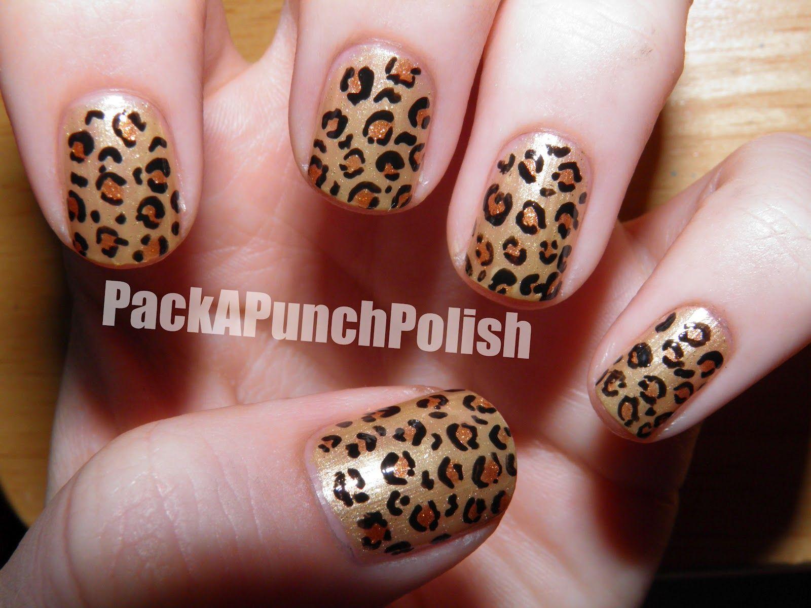 Packapunchpolish Leopard Print Nail Art Video How To Fingernails