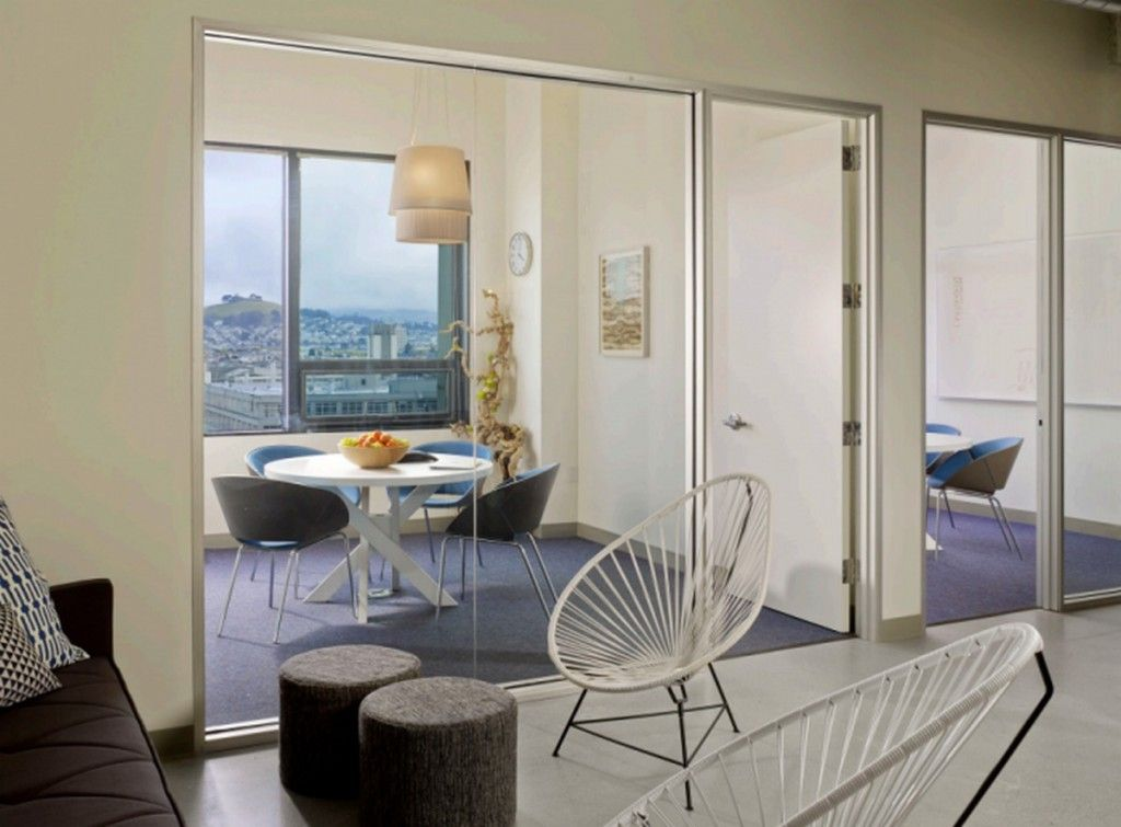 Modern Interior Use Glass Panels With Unique Furniture Design Ideas Of Asana Office: Inspiring Modern Offices Design in Silicon Valley
