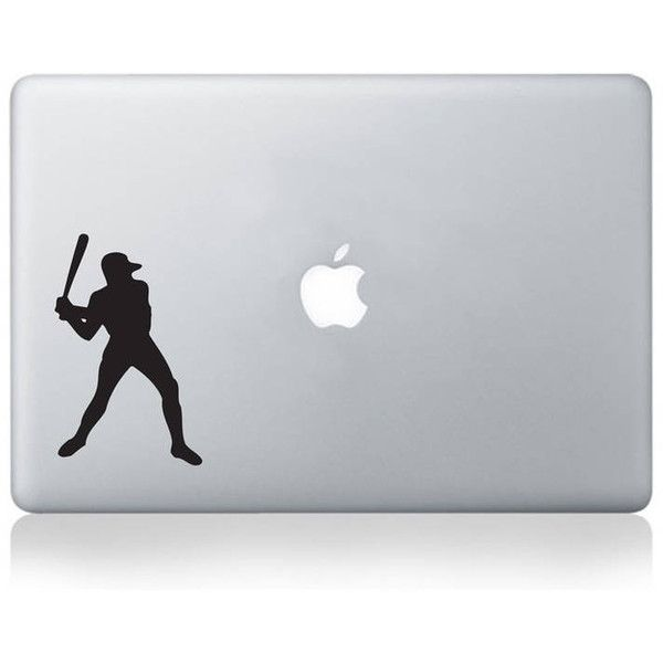 Vinyl Revolution Baseball Player Vinyl Decal For Macbook 13/15 Or... (£6.50) ❤ liked on Polyvore featuring accessories and tech accessories