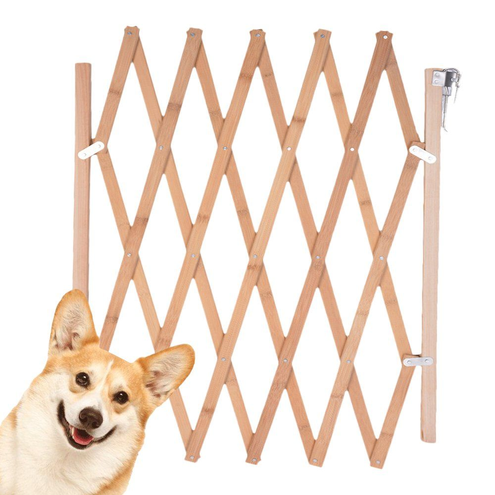 Urijk Expanding Swing Gate Dog Fence Indoor Expandable Dog Wooden Safety Gate Pet Protection For Pet Dog Baby Child Kid 8a To 43a Dog Gate Dog Door Pet Dogs