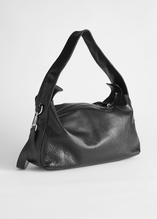 Slouchy Grained Leather Bag Other Stories Andotherstories Fashion Bag In 2020 Leather Bag Design Leather Tote Bag Women Boho Leather Bags