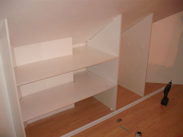 DSCF1610 Menuiserie Pinterest Master bedroom closet, Bedroom - pose porte coulissante sous pente