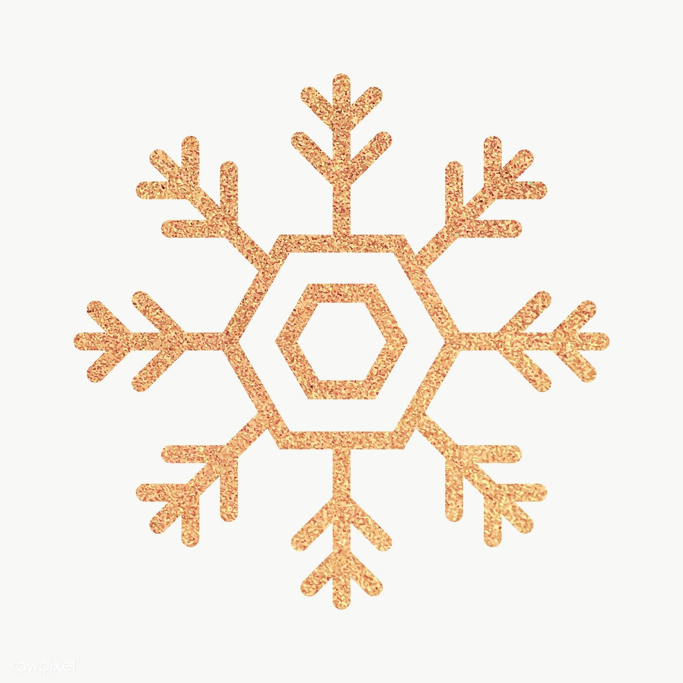 Download Premium Png Of Glittery Gold Snowflake Element Vector 1227573 Gold Snowflake Snowflakes Christmas Frames