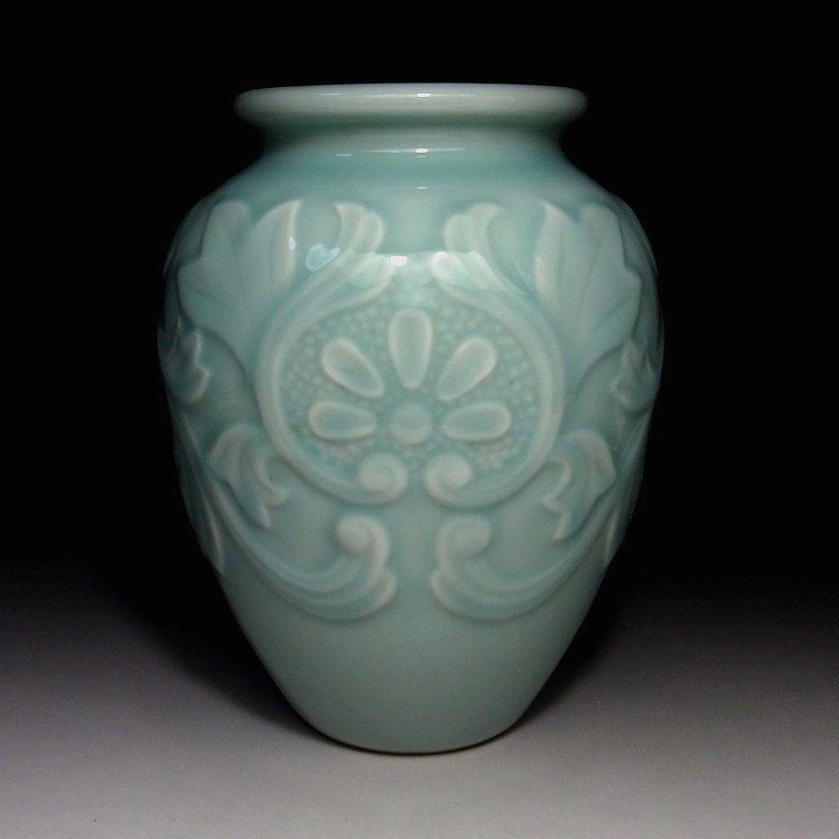 Mb5 vintage japanese celadon vase kyo ware tea ceremony height mb5 vintage japanese celadon vase kyo ware tea ceremony height 79 inches reviewsmspy