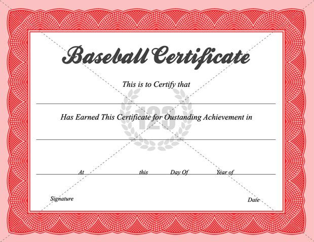 Baseball certificate templates baseball award certificate for Baseball certificates templates free
