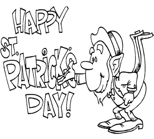 Happy St Patricku0027s Day Coloring Page Kids Coloring Pages - best of leprechaun coloring pages online