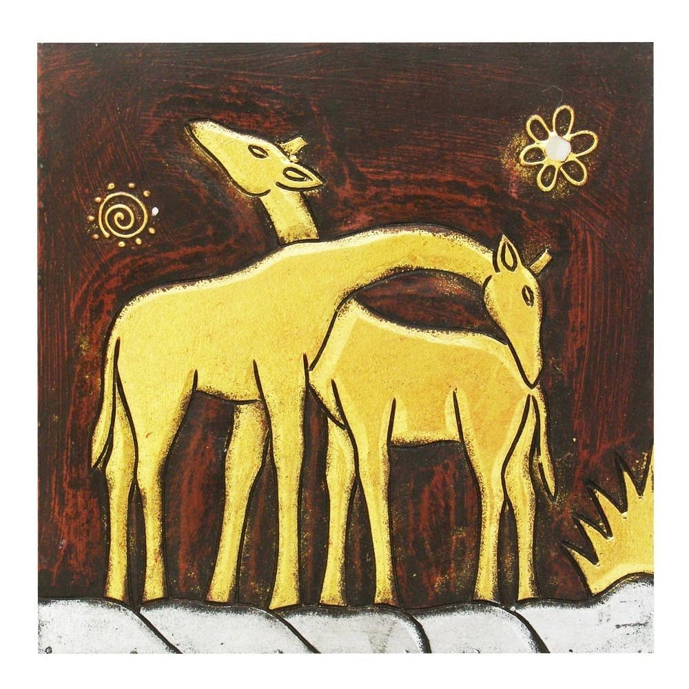 Hand-Carved \'Giraffe Pair\' Wall Panel, Handmade in Indonesia ...